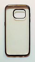 Чехол на Самсунг Galaxy S7 G930F тонкий Силикон Прозрачный Серый, фото 1