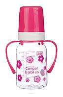 Бутылка с рисунком Canpol Babies Tritan с ручкой 120 ml.