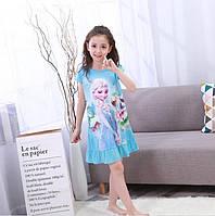 Детская красивая ночнушка , ночная сорочка, с Эльзой для девочки.