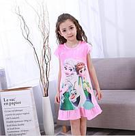Детская  ночная сорочка, ночнушка с Анной и Эльзой для девочки.