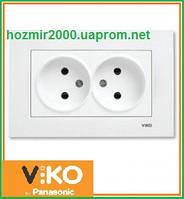 Розетка двойная без заземления Viko Karre
