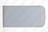 KeepUP чехол книжка HTC A510e (Wildfire S) белый лак