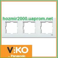 Тройная горизонтальная рамка Viko Karre