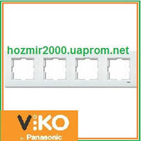 Четверная горизонтальная рамка Viko Karre