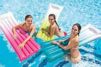 """Надувной пляжный матрас """"Омбре"""" Intex 59721 183х69 см, матрас для плавания, надувной матрас для пляжа"""