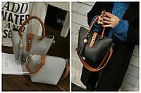 """Женская сумка с кисточкой и косметичкой в стиле """"Фурла"""""""