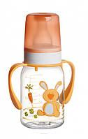 Бутылка с рисунком и ручкой коллекция цветная ферма Canpol Babies Tritan 120 ml.