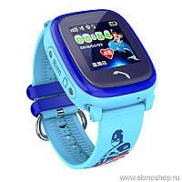 Детские умные GPS часы smart baby watch DF25 (Q100 aqua) голубые
