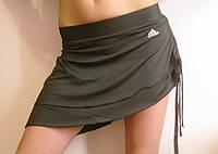 Спортивная женская  юбка на боковой стяжке