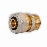 Муфта резьба наружная 16*3/4 M для металлопластиковой трубы
