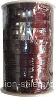Шнур атласный коричневый (3мм толщ) 100м в рул