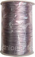 Шнур атласный светло-сиреневый (3мм толщ) 100м в рул