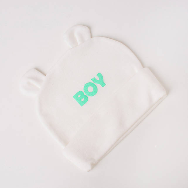 "Шапочка для новонароджених ""BOY"""
