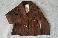 Пиджак вельветовый для девочек 98,110 роста Осень