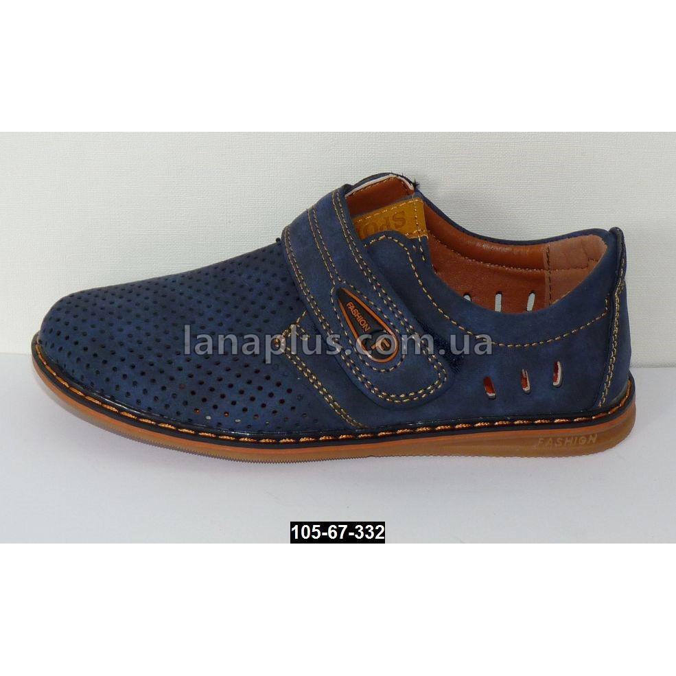 Летние мокасины, туфли для мальчика, 35-36 размер, супинатор