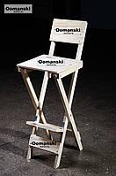 Стул для визажиста складной; Барный складной высокий стул. Для кофейни.