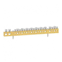 Шина Клеммная колодка неизолированная, крепление винт  2Х16+9Х10+9Х6 MIP99040