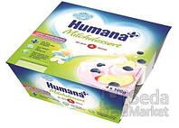 Продукт кисломолочный Humana с яблоком и черникой с натуральными пробиотиками, 4 шт.