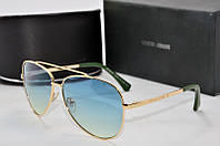 Солнцезащитные очки круглые Armani зеленые