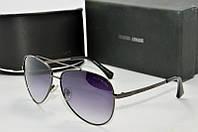 Солнцезащитные очки круглые Armani черные