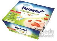 Продукт кисломолочный Humana с клубникой и натуральными пробиотиками, 4 шт.