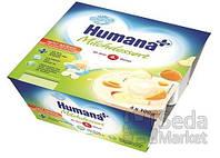 Продукт кисломолочный Humana с яблоком и абрикосом с натуральными пробиотиками, 4 шт.