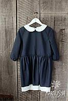 Школьное платье для девочки из натуральной итальянской ткани удобное индивидуальное на заказ