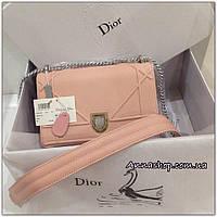 Клатч сумка Диорама в пудре копия