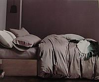 Комплект постельного белья из бамбука однотонный серый двухспальный.