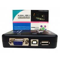 kvm-переключатель 2 порта чтения 2.0. видео 1920* 1440 ручной коробкой горячей замены d0302a