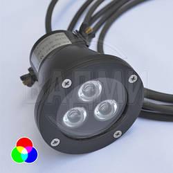 Подводный LED RGB фонарь A3L-RGB, многоцветный, M-TEK