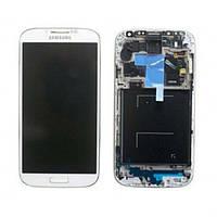 Дисплейный модуль в рамке для Samsung i9505 Galaxy S4 LTE (White) Original