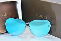 Солнцезащитные очки Gucci голубые