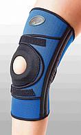 Бандаж для сильной фиксации колена с 4-мя спиральными ребрами жесткости. Размеры XXL, XXXL. Черный, синий