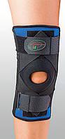 Бандаж для сильной фиксации колена и перекрестных связок. Размеры M, L, XL. Черный, синий