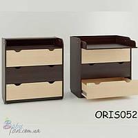 Комод - пеленатор Oris Natural/Colour на 3 ящика Комбинированный Зебра темный (венге)