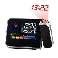 Часы метеостанция с проектором времени. Домашняя метеостанция с часами Color Screen Calendar 8190