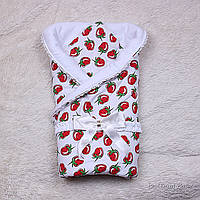 "Летний конверт-одеяло на выписку ""Ярина"" (клубники), фото 1"