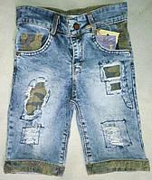 Детские джинсовые шорты для мальчиков 8-12 лет-