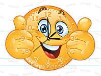 Часы акриловые смайлик
