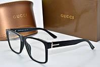 Оправа прямоугольная Gucci черная