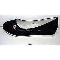Туфли, балетки для девочки, 30-37 размер, супинатор, кожаная стелька, белая подошва
