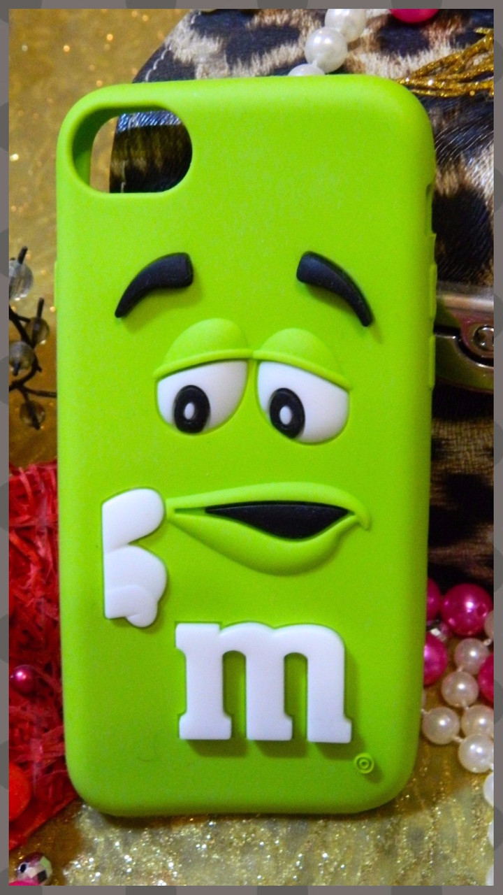 Мягкий чехол серии m&m для Apple iPhone 7 салатовый