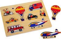Деревянная рамка-вкладыш Авиатранспорт