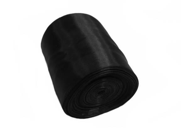 Лента шелковая черная 10см, фото 2