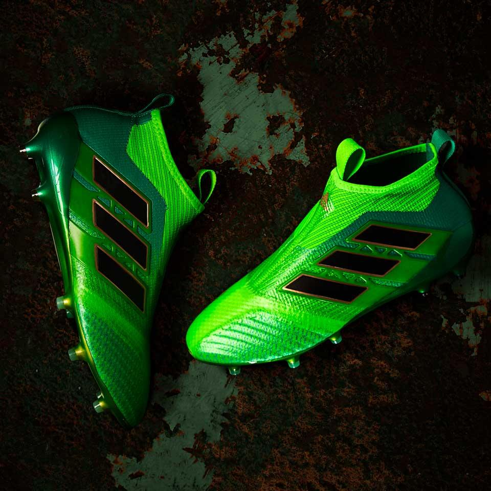 Бутсы без шнурков adidas ACE 17+ Purecontrol FG - Solar Green Core  Black Core Green e0830b1cd8dde