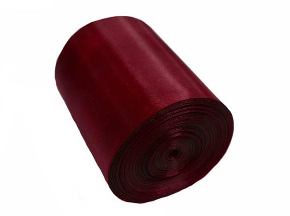 Лента шелковая бордовая 10см, фото 2