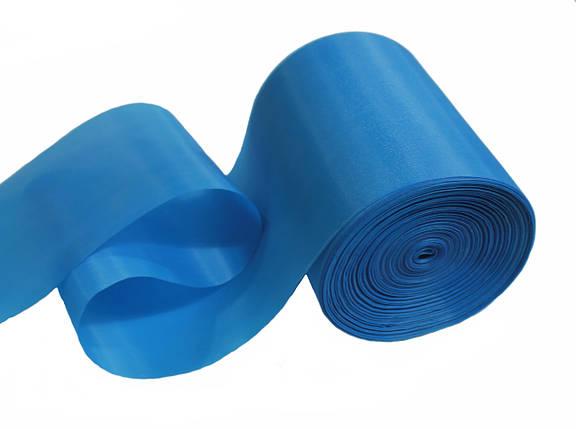 Лента шелковая голубая бирюза 10см, фото 2