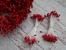 Тичинка лакова № 2  (2-3мм), 50 ниток, 100шт  червона (ТІ-028)