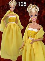 Одежда для кукол Барби. Вечернее платье